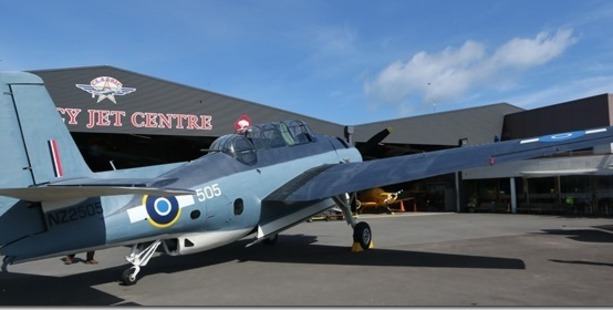 The unveiling of RNZAF Grumman Avenger NZ2505 at Classic Flyers today. Photo/Bent Jansen