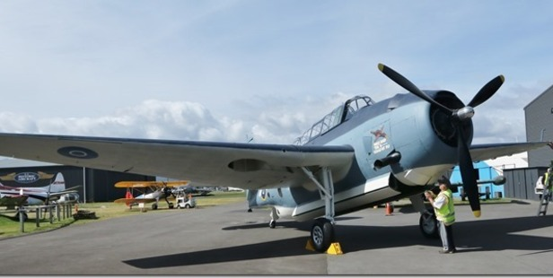 The Grumman Avenger aircraft has been unveiled at Classic Flyers after two years of restoration work. Photo/Bent Jansen