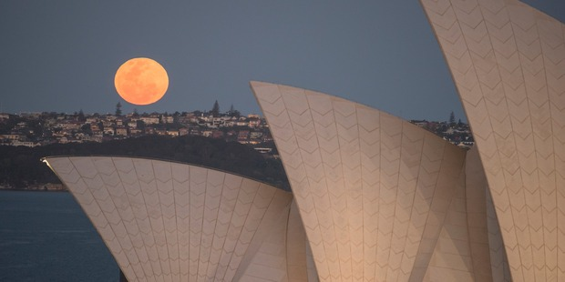 Supermoon parties are planned across Australia. Photo / Getty Images