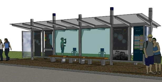 NEW LOOK: An artist's impression of new bus shelters for Eastbourne Street. PHOTO SUPPLIED