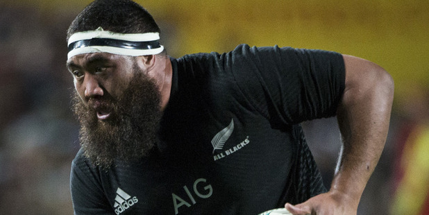 All Blacks prop Charlie Faumuina. Photo / Jason Oxenham