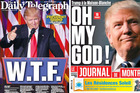 Among the most inflammatory covers was the Australia's <i>Daily Telegraph's</i>, which simply led with three letters: