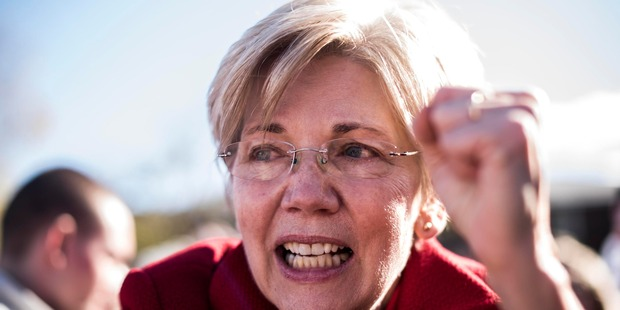 Some Democrats say that the party's salvation is to reclaim its New Deal roots and move it onto a more populist footing, as championed by Senator Elizabeth Warren. Photo / The Washington Post