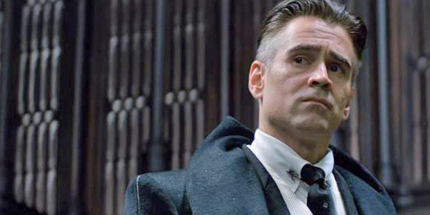 Colin Farrell as Percival Graves in the film, Fantastic Beasts and Where To Find Them.