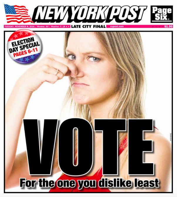 The New York Post front page. Photo / New York Post