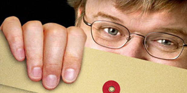 "Film-maker Michael Moore is not afraid to call things as he sees them. A promotions image from his ""Fahrenheit 9/11"", which examined America in the aftermath of the September 11 attacks. Photo / File"