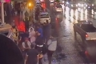 Police have released video of a shocking mass brawl that took place in the early hours of Sunday morning on Auckland's K Road