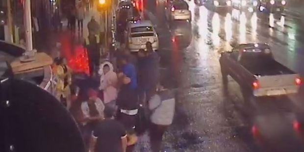 Loading Police have released footage of a dramatic brawl between more than 15 people that spilt onto Auckland's Karangahape Rd early Sunday morning. Photo / Supplied