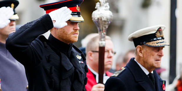 Prince Harry and Prince Philip, Duke of Edinburgh. Photo / Getty Images