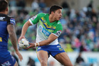 Joseph Tapine made the big call to move from Newcastle to Canberra at the start of the NRL season. Photo / Getty