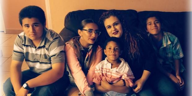 Mariza Ruelas and her family. Photo / Mariza Ruelas