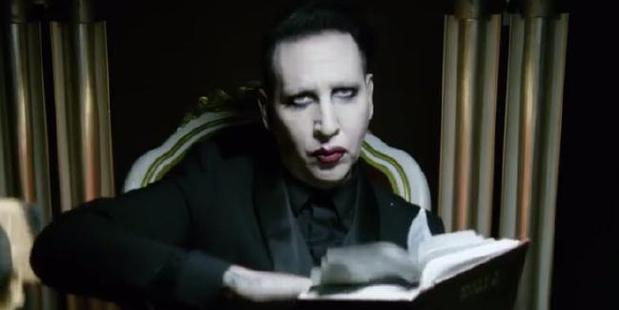 A scene from Marilyn Manson's SAY10 music video. Photo / YouTube