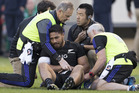 All Blacks centre George Moala is heading home after injuring his elbow in Sunday's defeat to Ireland. Photo / Brett Phibbs