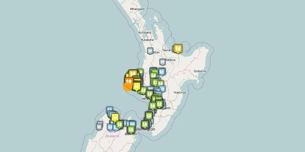 The earthquake was centred 10km north of Opunake and was felt widely throughout central New Zealand. Photo / GeoNet