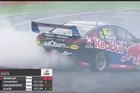 Footage from Sky.   Shane van Gisbergen became the first New Zealander to win the Jason Richards Trophy on Sunday and all but secured a maiden Supercars title at the ITM Auckland SuperSprint on Sunday.  The Kiwi settled for second place in the final race of the weekend while his championship rival Jamie Whincup grabbed the race win.
