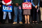 Voters at a Hillary Clinton rally in Raleigh, North Carolina. Photo / The Washington Post