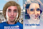 Snapchat's latest filter will turn you into Hillary Clinton.