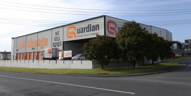 The incident occurred at Guardian Self Storage in Silverdale. Photo / Doug Sherring