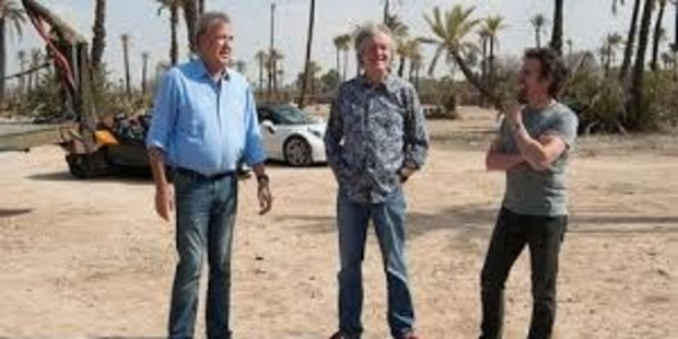 On set for The Grand Tour. Photo / Supplied