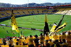Westpac Stadium was being assessed on Monday following the earthquake overnight. Photo / Photosport.
