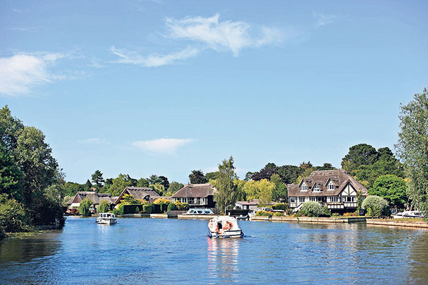 Gently is the best way to go on the craft that cruise the  Broads.
