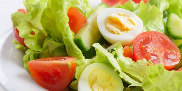 Adding a boiled egg to your salad can make it more nutritious than you think. Photo / 123RF