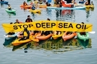 Hundreds turned out against offshore drilling for oil around the coast of NZ in Wellington today