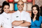 Rachel Khoo, Adriano Zumbo and Gigi Falanga on Zumbo's new cooking competition Just Desserts.