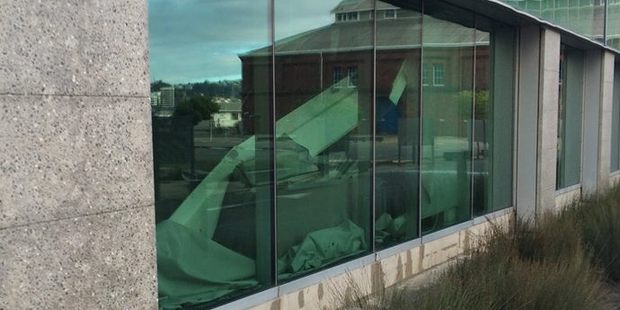 Damage inside the Statistics NZ building. Photo / Supplied