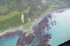 Aerial photographs show tectonic uplift of the seabed of between 2 and 2.5 metres north of Kaikoura. Photo / Supplied