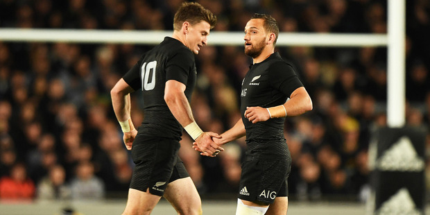 Loading Who starts at first-five for the All Blacks? It's a debate that has raged since Dan Carter hung up his boots at the end of 2015. Photo / Photosport