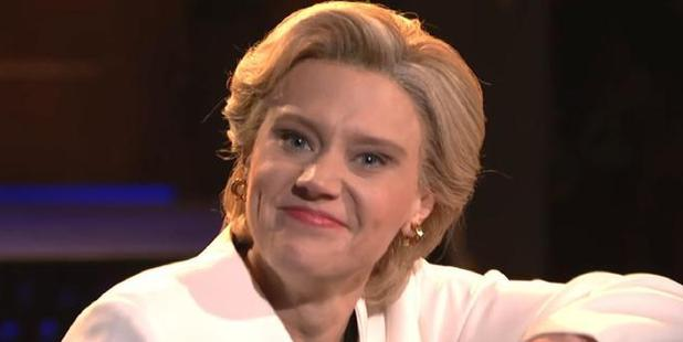 Marking both Donald Trump's triumph and the recent death of Leonard Cohen, Kate McKinnon's defeated Hillary Clinton sat behind a piano. Photo / Saturday Night Live