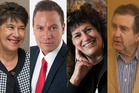 Merepeka Raukawa-Tait, left, Tamati Coffey, Beatrice Yates,and Stewart Edward have been elected for the first time.