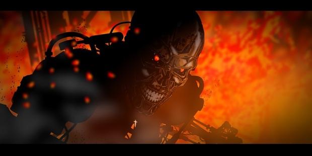 A still from Kiwi animator Bruce Stirling John Knox's Terminator trailer Extermination