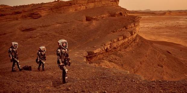 The new National Geographic series Mars depicts the first manned mission to the Red Planet. Photo / National Geographic Channel