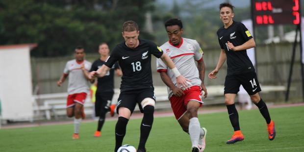 Kip Colvey controls the ball. Photo / NZF