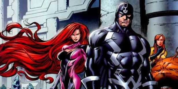 Medusa, left, and Black Bolt, the Queen and King of the Inhumans.