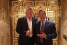 Band of brothers: Former Ukip party leader Nigel Farage posted a Twitter picture of himself with President-elect Donald Trump.