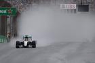 Mercedes driver Lewis Hamilton leads the Brazilian GP in Sao Paulo on Sunday. Photo / AP