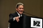 NZ First leader  Winston Peters speaks at the party's conference in Dunedin today . PHOTO: Gregor Richardson NZH 05Sep16 - Winston Peters predicts an early election, saying the National Government is
