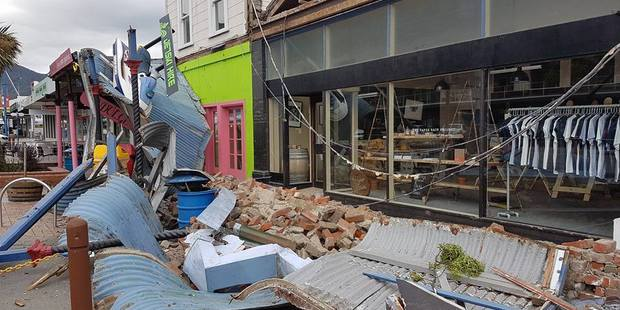 Loading A collapsed storefront in Picton. Photo / Rob Burn