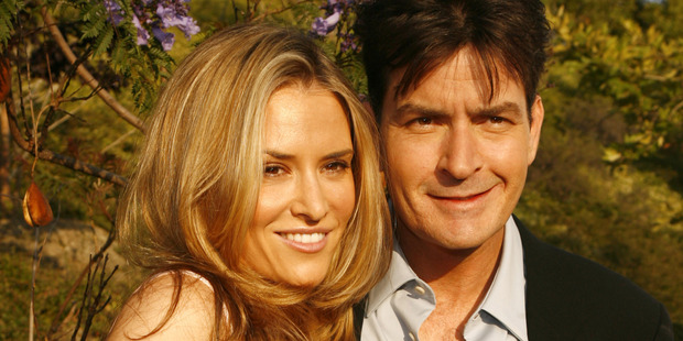 Brooke Mueller and her ex Charlie Sheen. Photo / Getty