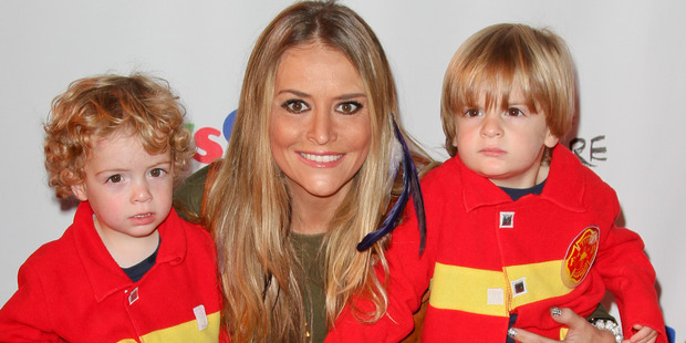 Actress Brooke Mueller with her sons Max and Bob. Photo / Getty