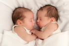 The twins were born on the same day but conceived 10 days apart. Stock photo / Getty