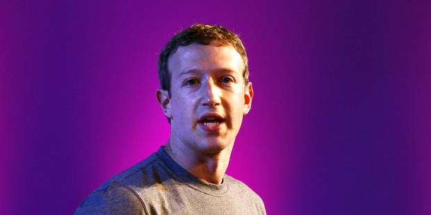 Co-founder and chief executive of Facebook Mark Zuckerberg. Photo / Getty