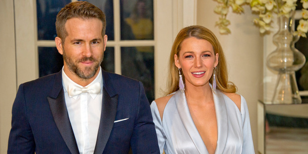 Actors Ryan Reynolds and Blake Lively arrive for the State Dinner at the White House. Photo / Getty