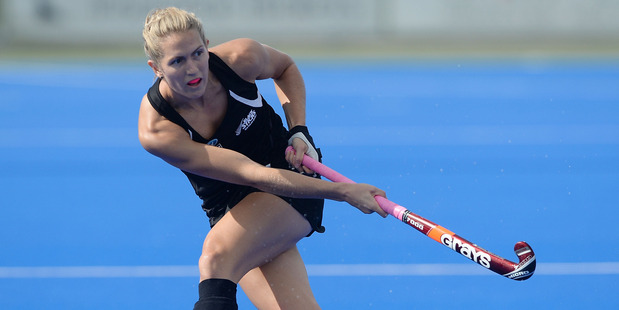 Stacey Michelsen in action against India. Photo / Getty Images