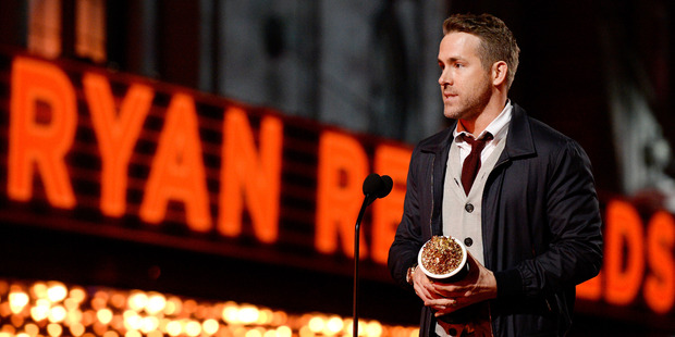 Actor Ryan Reynolds accepts Best Comedic Performance for 'Deadpool' onstage during the 2016 MTV Movie Awards. Photo / Getty