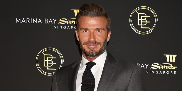 How does David Beckham score on the manners front? Photo / Getty