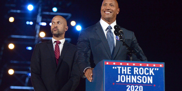 Dwayne 'The Rock' Johnson wants to run for President of the United States one day. Photo / Getty